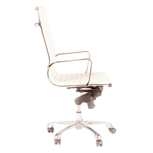 High Back Conference Chair with Tilt-Locking in White (Set of 2)