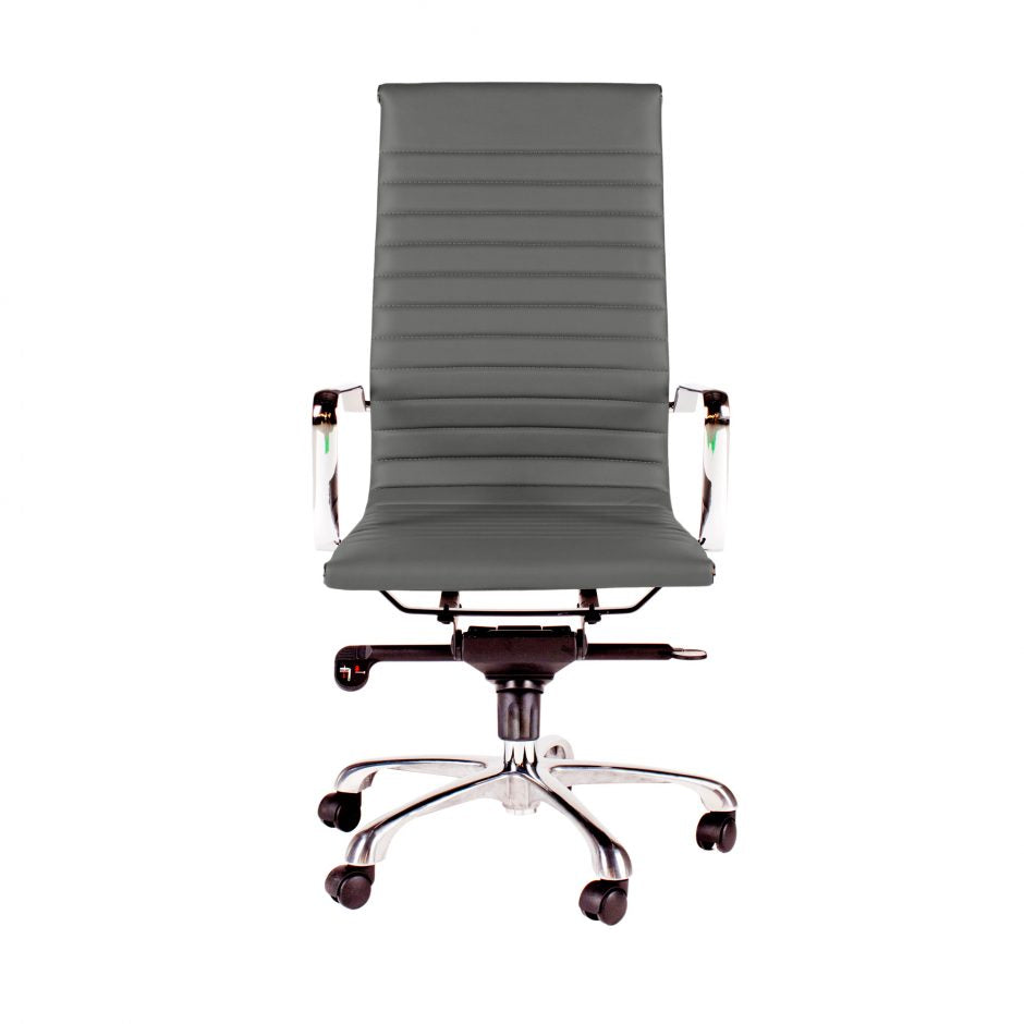 High Back Conference Chair with Tilt-Locking in Grey (Set of 2)