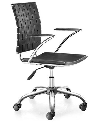 Contemporary Executive Chair with Criss-Cross Pattern in Black, White, or Espresso