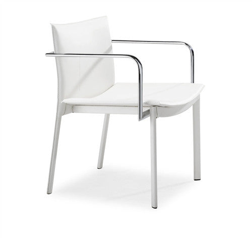 Gekko Modern Leather Conference Chair in White, Black, or Espresso