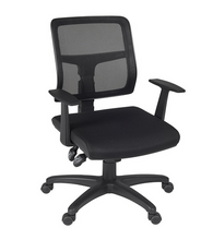 Load image into Gallery viewer, Elegant Black Office Chair with Mesh Back