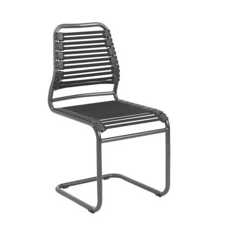 Modern Black Armless Guest or Conference Chair with Bungee Cords (Set of TWO)
