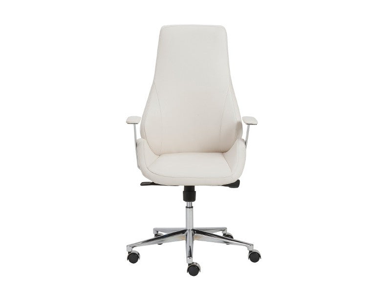 Outstanding Bergen Modern White Leather High Back Office Chair Gmtry Best Dining Table And Chair Ideas Images Gmtryco