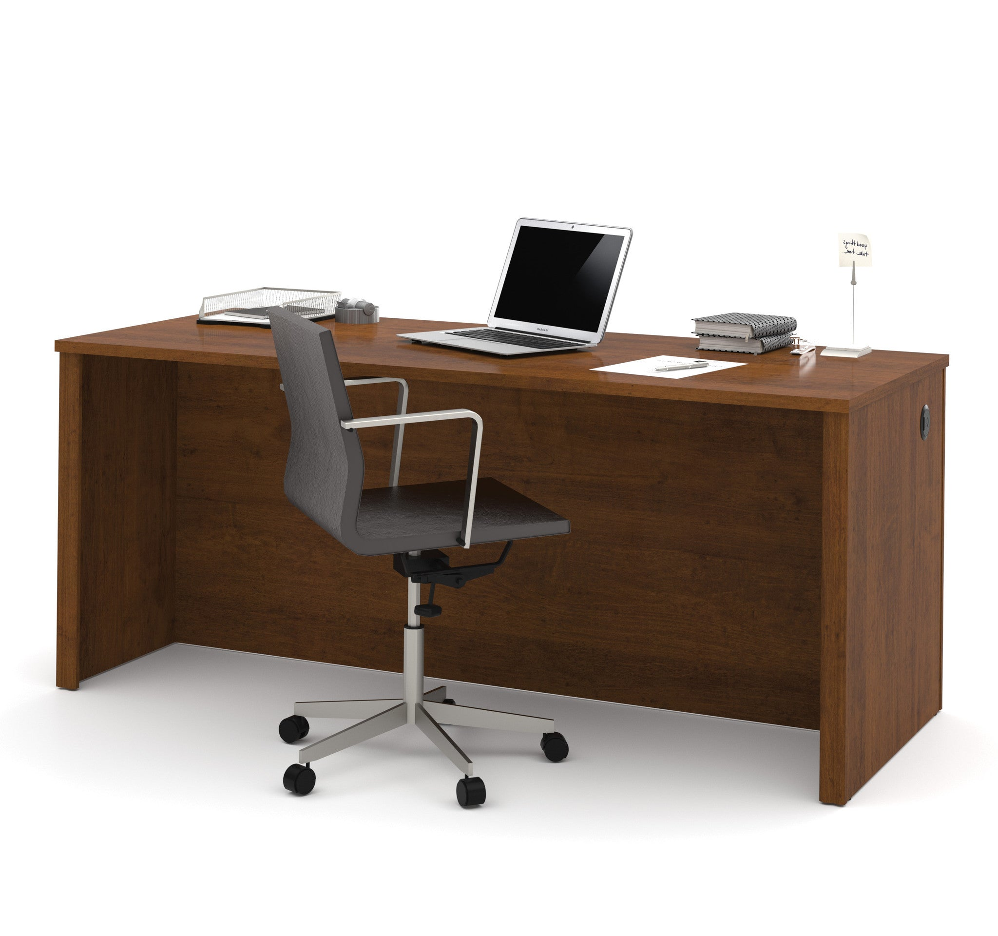 "71"" Modern Executive Desk in Tuscany Brown Finish"
