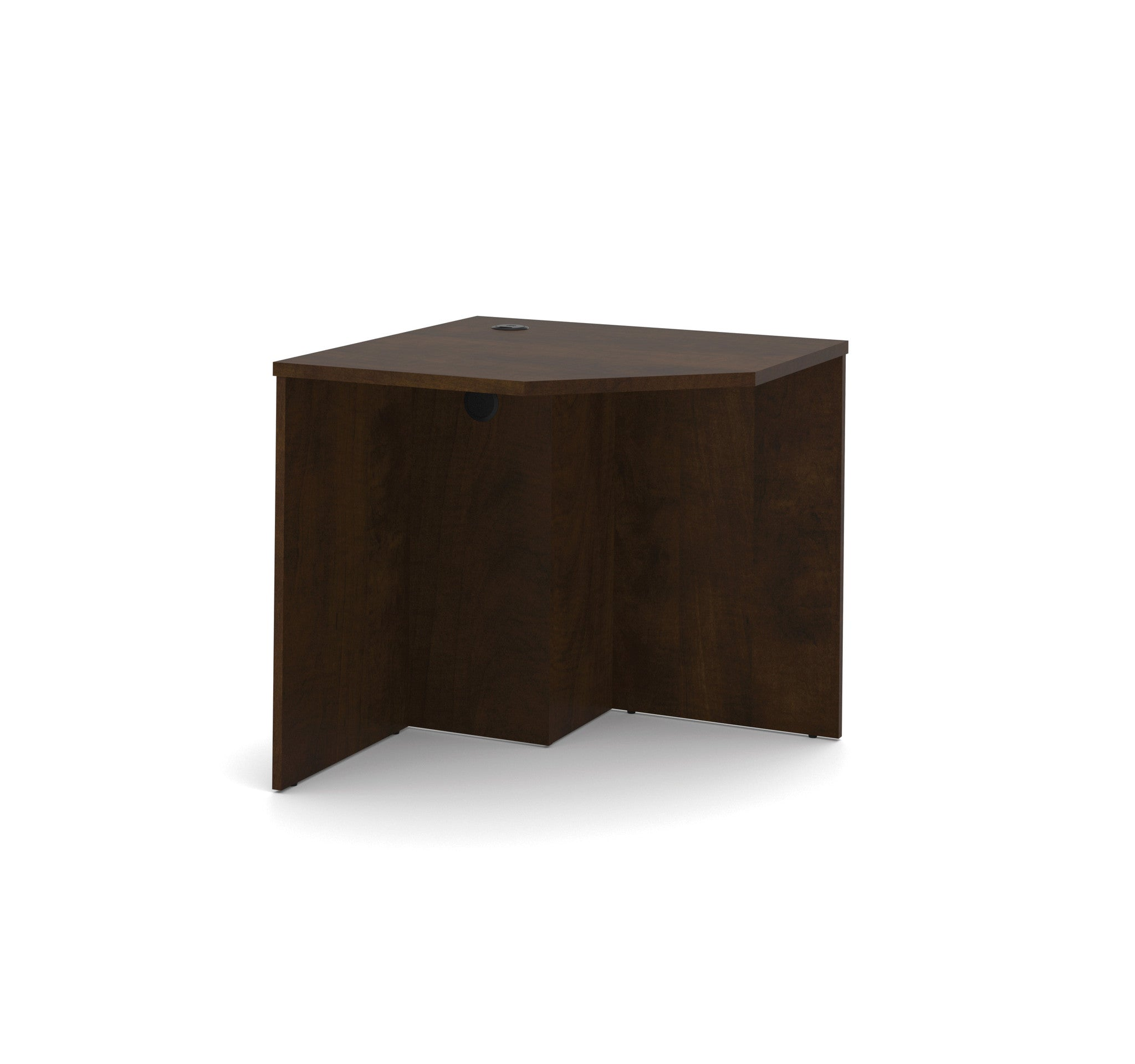 Premium Compact Corner Office Desk in Chocolate