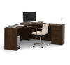 "71"" x 71"" Modern Corner Desk in Chocolate"