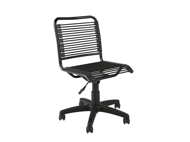Modern Black Office Chair with Comfortable Bungee Supports
