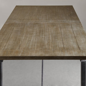 "Sleek 72"" Executive Desk in Grey Reclaimed Finish"