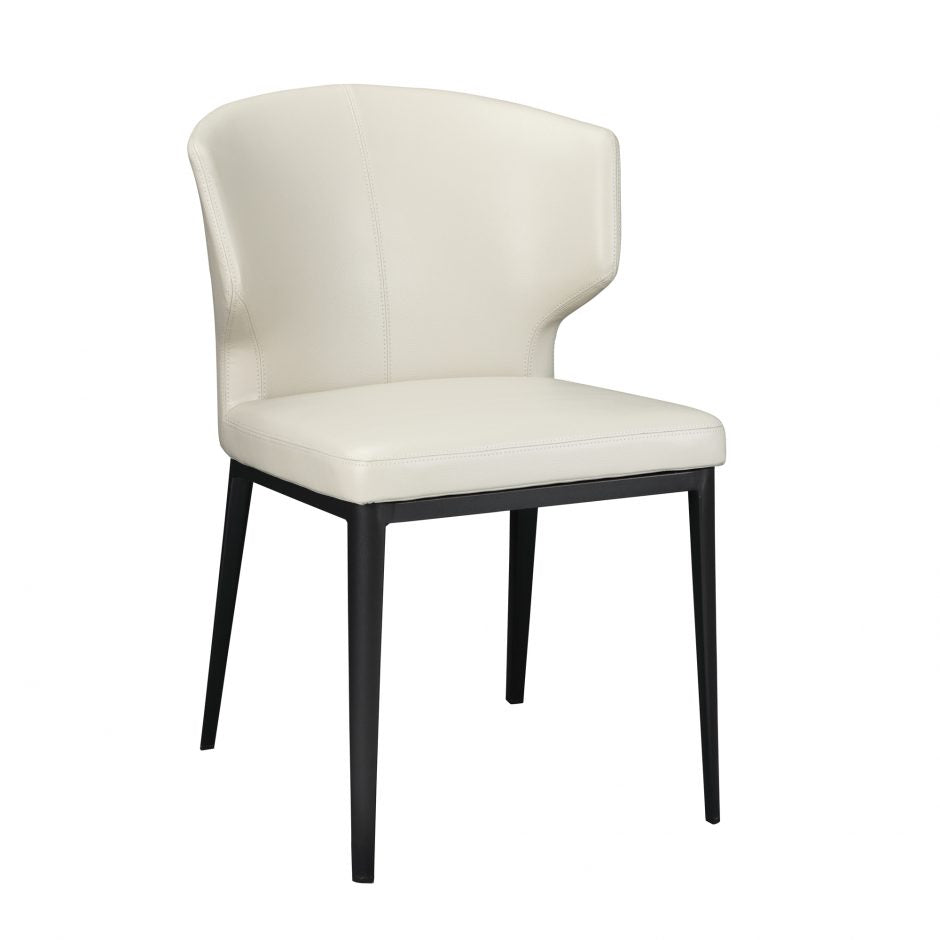 Stylish Beige Polyester Guest or Conference Chair with Steel Frame (Set of 2)