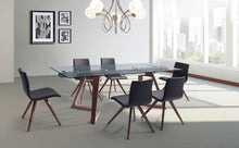 "Load image into Gallery viewer, Premium Glass Desk or Conference Table with Solid Wood Legs (Extends from 63"" W to 95"" W)"