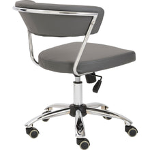 Load image into Gallery viewer, Gray Leather Low Back Modern Office Chair with Chrome Frame