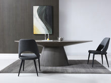 "Load image into Gallery viewer, Modern 95"" Oval Conference Table with Gray Oak Veneer Finish"