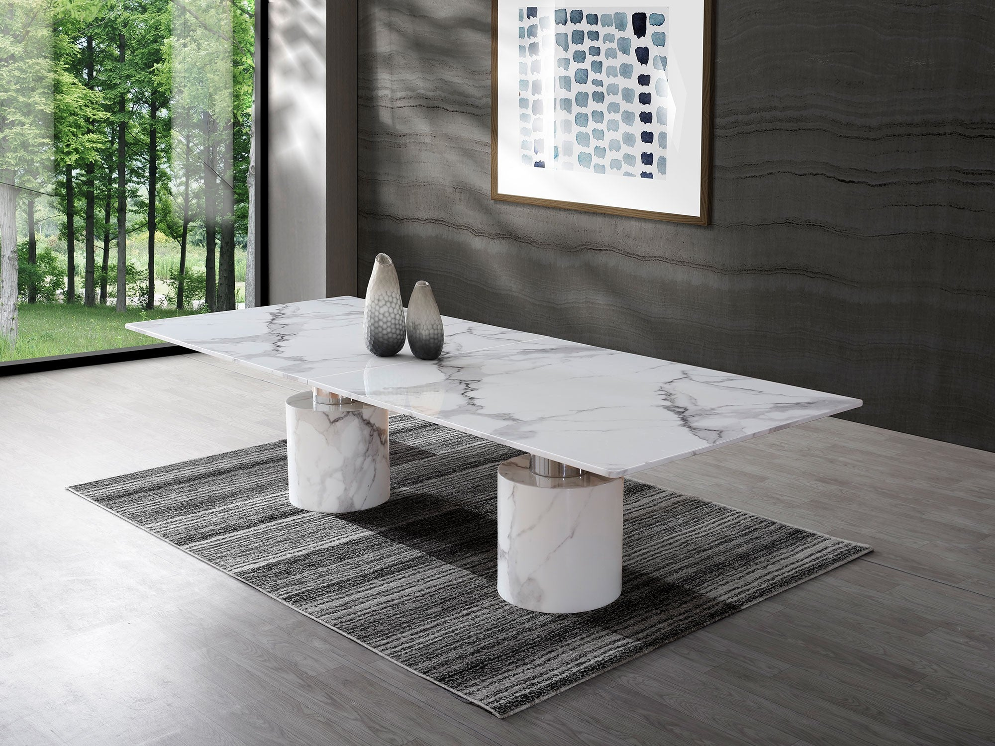 Picture of: Modern 10 Foot White Marble Stainless Conference Table Computerdesk Com