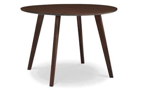 Modern Solid Bamboo Circular Meeting Table in Black Walnut