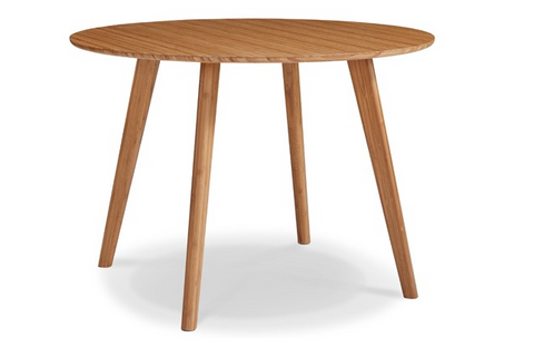 Modern Solid Bamboo Circular Meeting Table in Caramel
