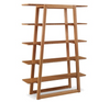 100% Solid Bamboo Bookcase in Caramel Finish