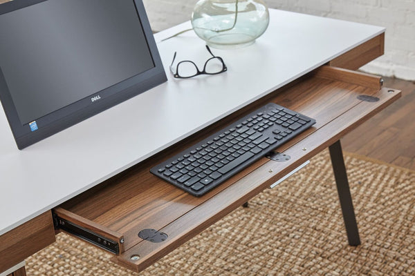 Modern 63 Quot White Amp Walnut Executive Desk Computerdesk Com