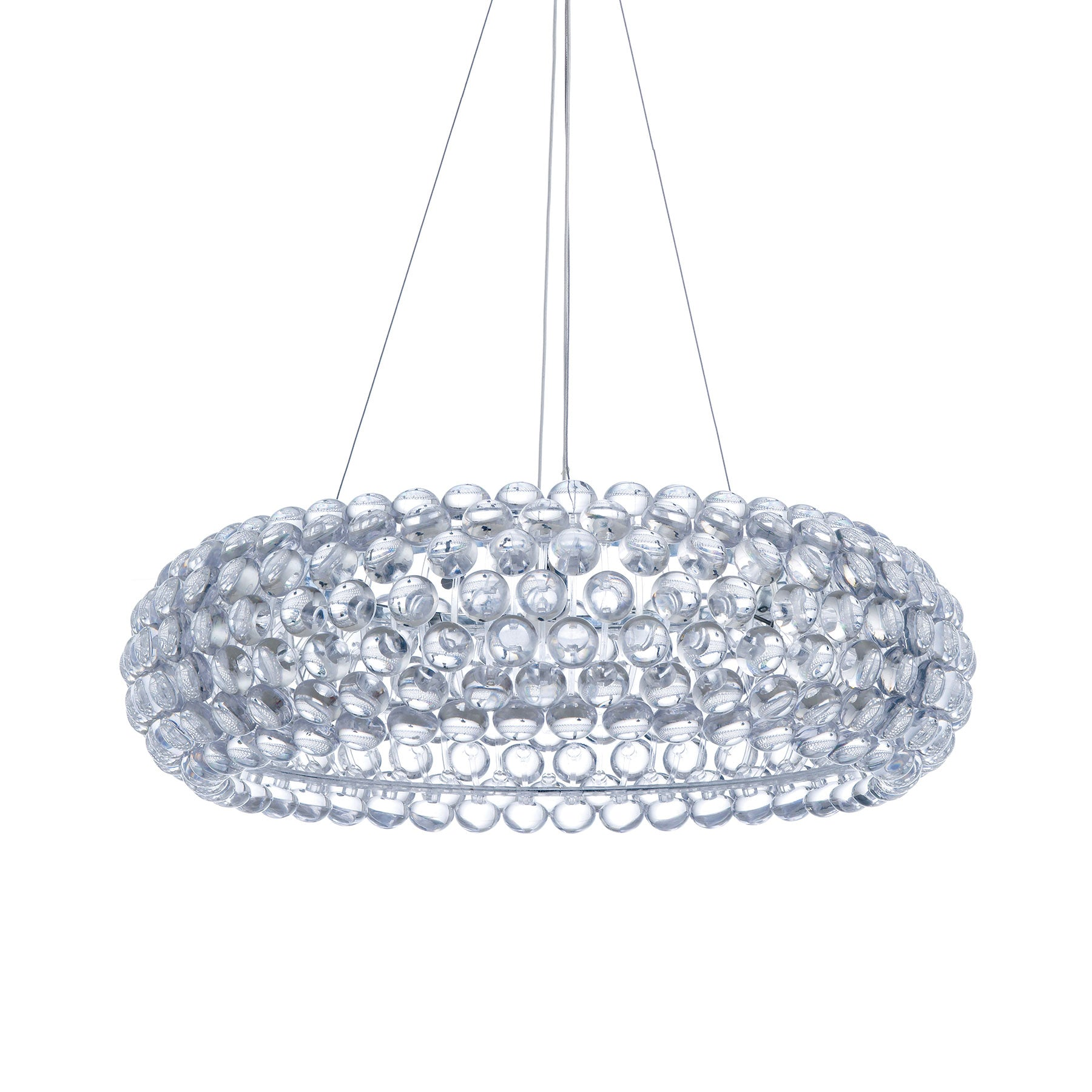 Classy Chrome and Clear Acrylic Chandelier