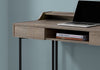 "Compact 48"" Dark Taupe & Black Metal Office Desk"
