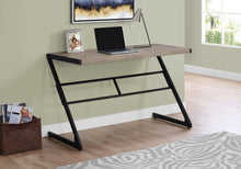 "Load image into Gallery viewer, Sophisticated Taupe & Black 48"" Office Desk w/ Z-Design"