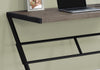 "Sophisticated Taupe & Black 48"" Office Desk w/ Z-Design"