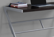 "Load image into Gallery viewer, Sophisticated Cappuccino & Silver 48"" Office Desk w/ Z-Design"