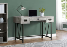 "Load image into Gallery viewer, 48"" Vintage-Style Grey Woodgrain Office Desk"