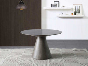 "47"" Circular Meeting Table with Gray Oak Veneer Finish"