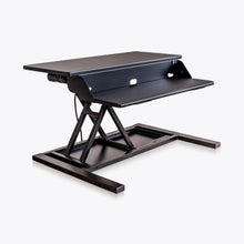 Load image into Gallery viewer, Sit-Stand Black Desk Riser w/ Electric Motor