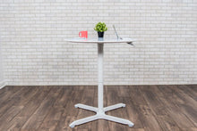 "Load image into Gallery viewer, 31"" Square Pneumatic Sit-Stand White Meeting Table"