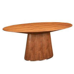 Contemporary Oval Meeting Table with Wide Base