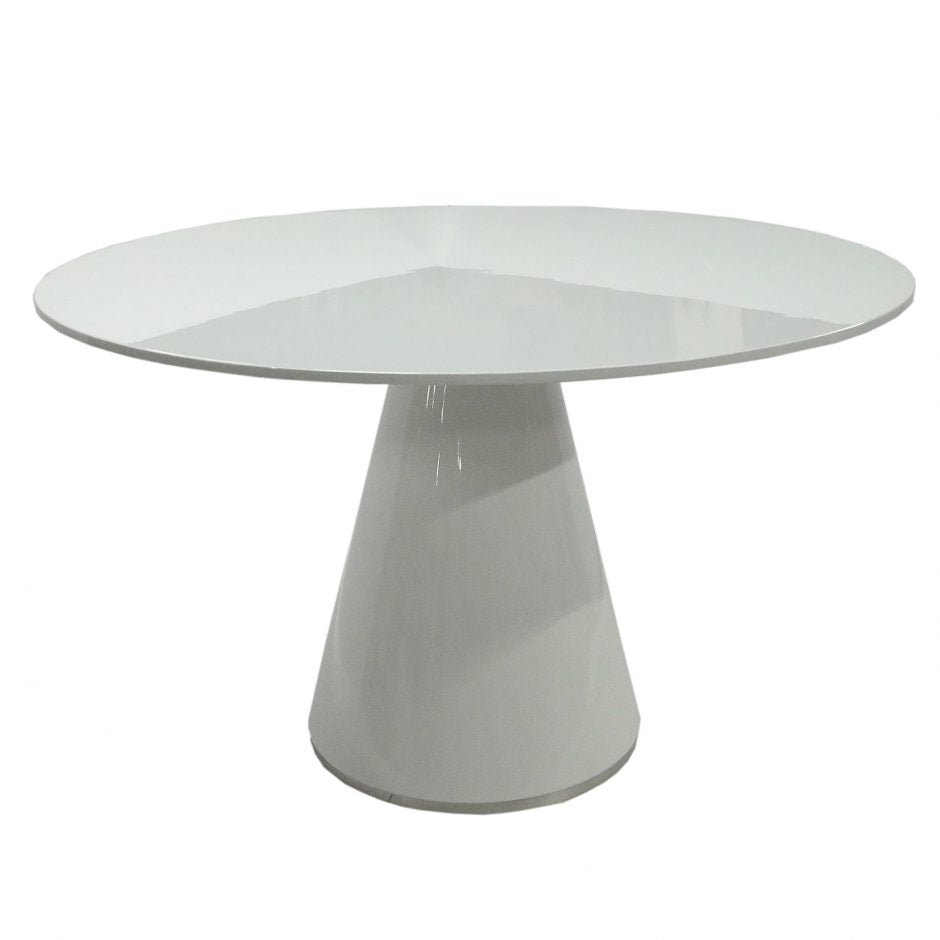 Classic Round White Meeting Table 47