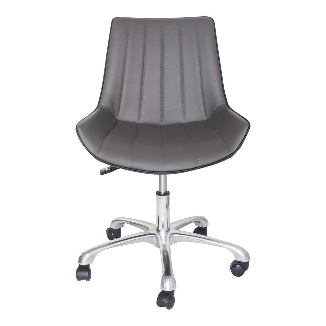 Glossy Grey Armless Guest/Conference or Office Chair (set of 2)