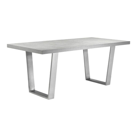 "71"" Executive Desk or Meeting Table in Grey with Stainless Steel Legs"