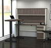 White & Antigua Desk / Hutch with Included Sit-Stand Desk