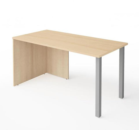 "Modern 60"" Office Desk in Northern Maple Finish"