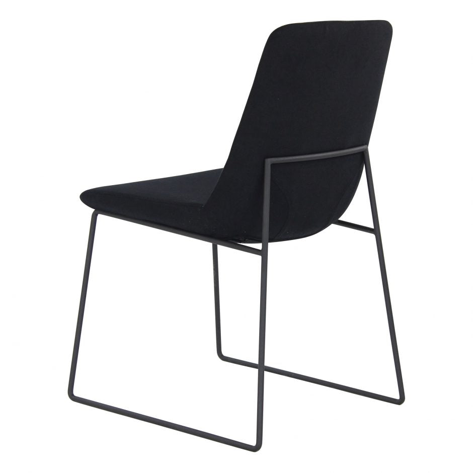 Black Guest or Conference Chair with Runner-Style Legs (Set of 2)