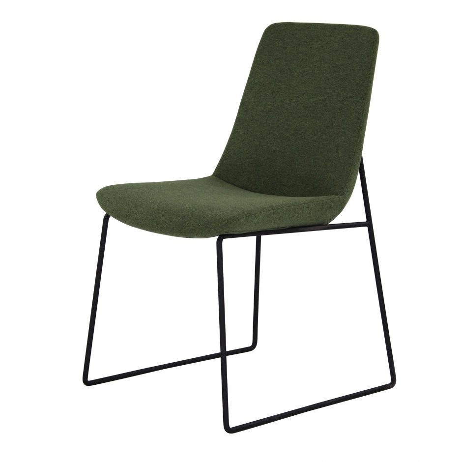 Green Guest or Conference Chair with Runner-Style Legs (Set of 2)