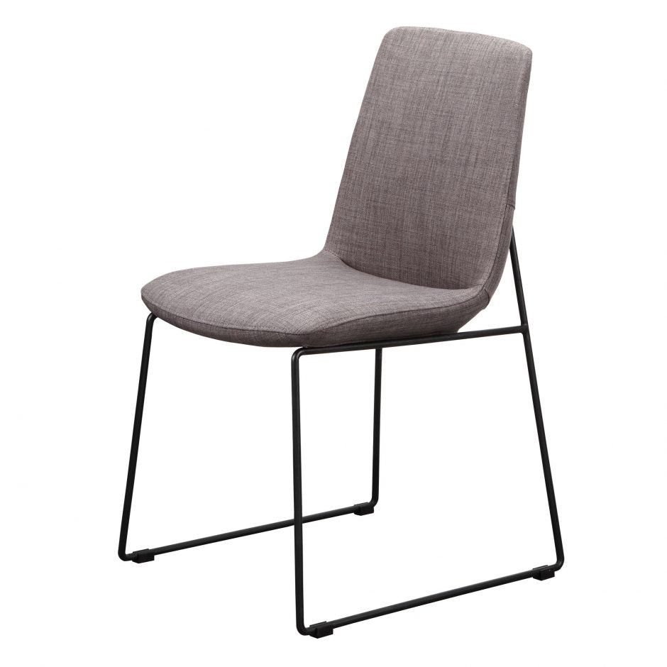 Grey Guest or Conference Chair with Runner-Style Legs (Set of 2)