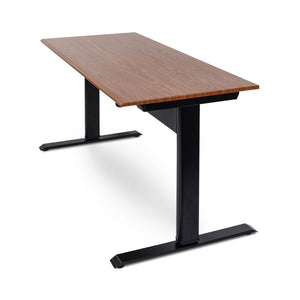 "Classic 56"" Black Steel & Wood Veneer Standing Office Desk"