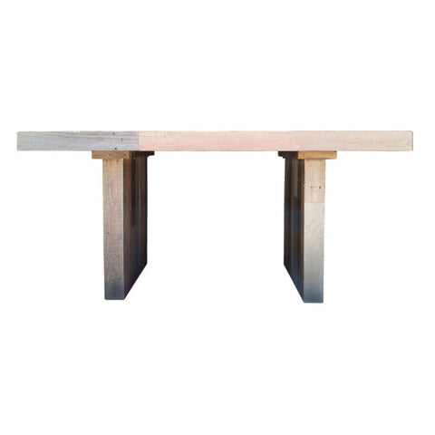 "63"" Modern Pine Desk or Meeting Table Made With Recycled Wood"