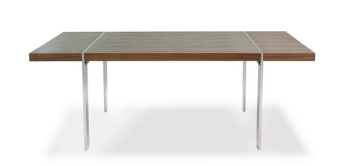 "83"" Walnut Conference Table or Desk with Unique Modern Design"