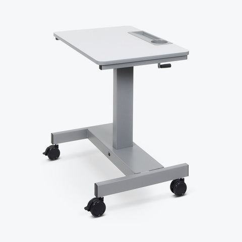 "Mobile Crank Adjustable White 29"" Office Desk or Workstation"
