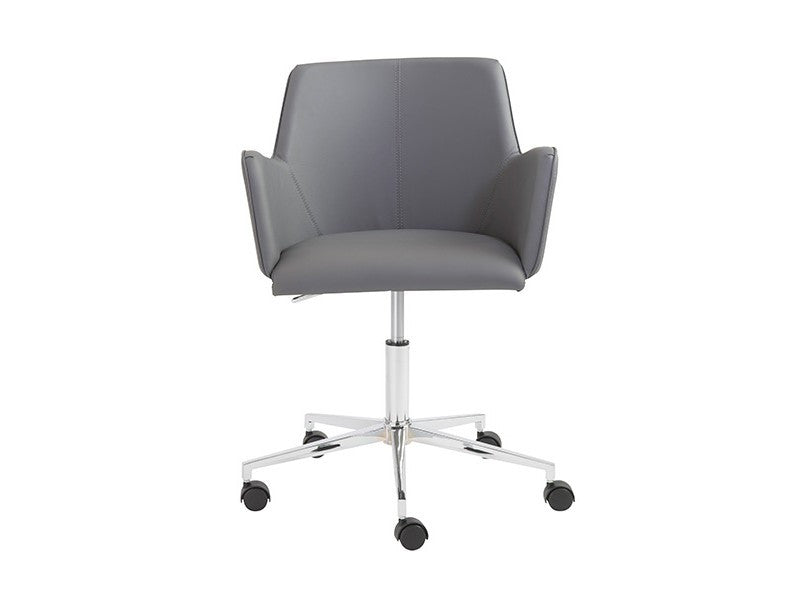 Fino Modern Gray Leather Office Chair