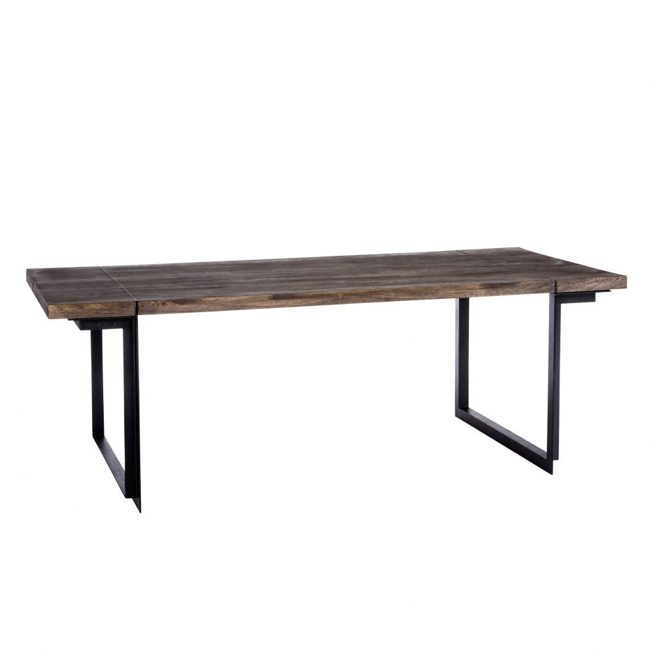 "Solid Mango Wood 86"" Rustic Conference Table or Desk"