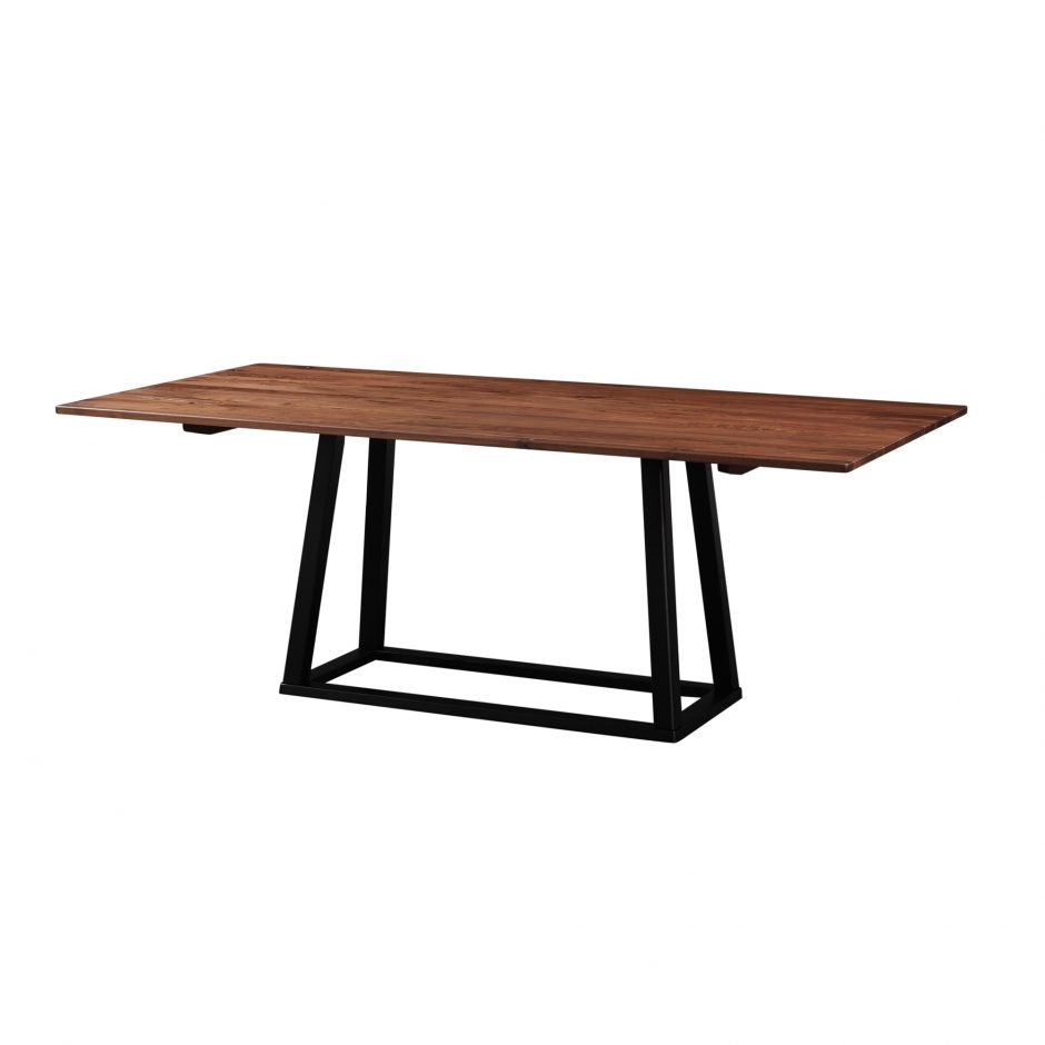 "79"" Meeting Table or Executive Desk With Walnut Top and Rubber Wood Base"