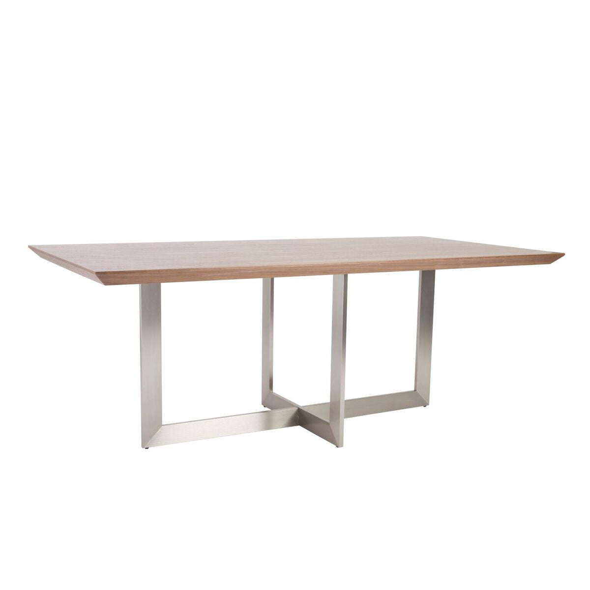 "Walnut & Brushed Stainless 79"" Conference / Meeeting Table"