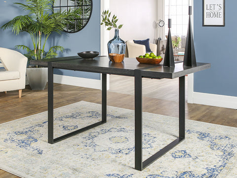 "Urban 60"" Office Desk in Charcoal & Metal"
