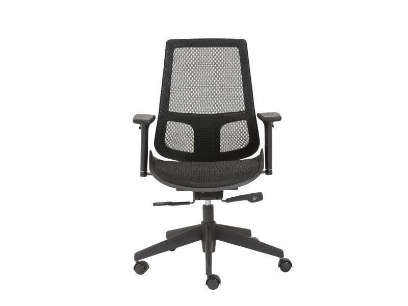 Black Mesh Premium Office Chair with Adjustable Armrests