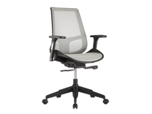 Load image into Gallery viewer, Gray Mesh Premium Office Chair with Adjustable Armrests